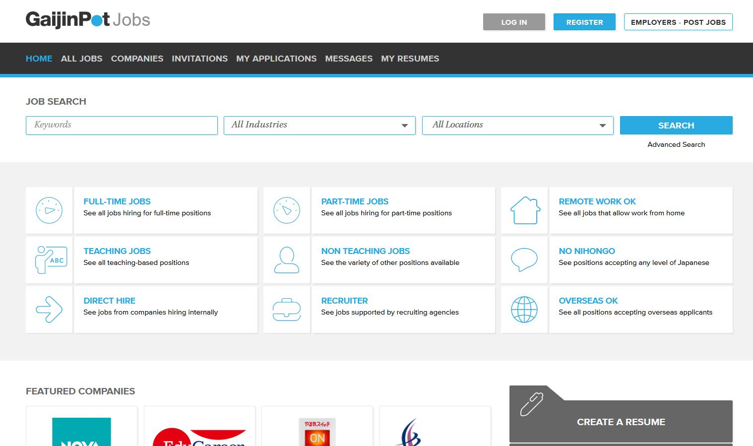 GaijinPot jobs web