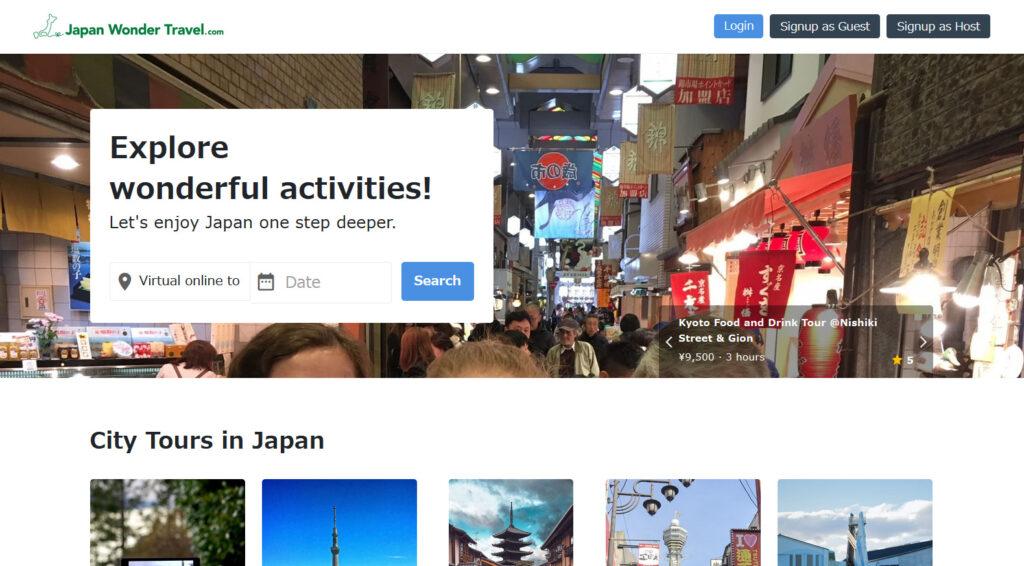 Japan wonder travel.com web